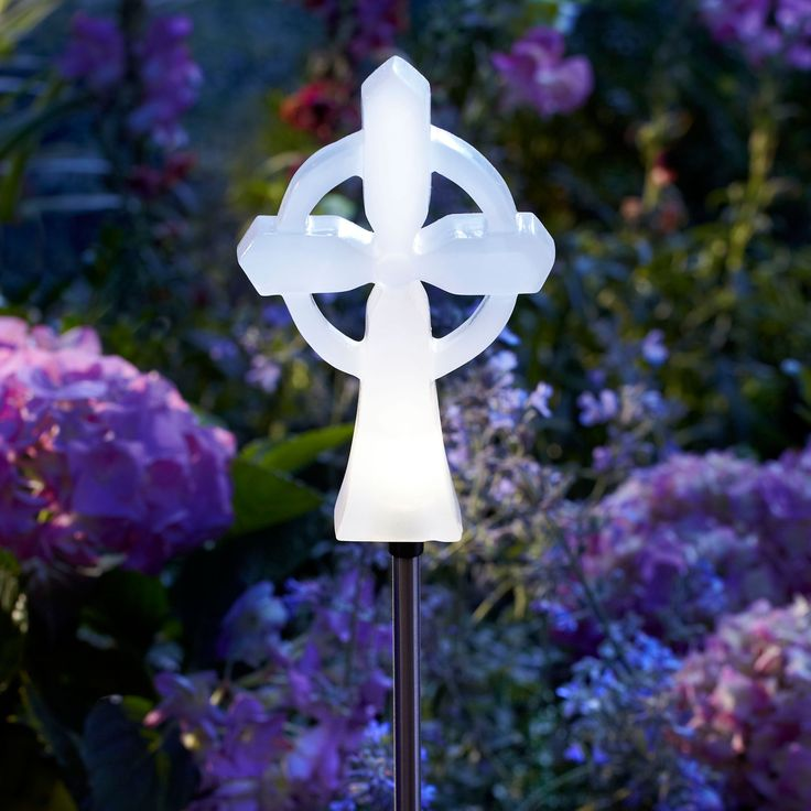 Have To Have It Moonrays Memorial Cross Solar Stake Light