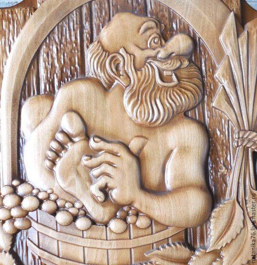 Картина резная деревянная в баню, необычный подарок любителю бани, натуральное дерево, резьба по дереву