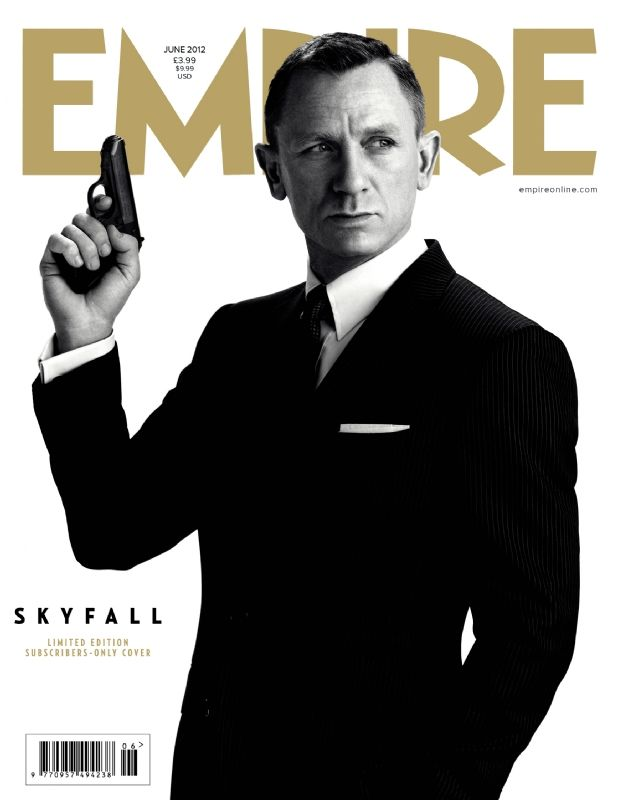 Daniel Craig as James Bond 007 on the cover of Empire. This as stated was the cover for empire magazine as advertisement for the upcoming Bond film 'Skyfall'
