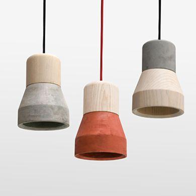 Specimen Editions | Cement Wood Lamp | Suspension & Pendant Lighting | Share Design | Home, Interior Design, Architecture, Design Ideas & Design Inspiration Blog