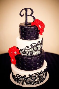 black lace wedding cakes leather and lace birthday theme search leather 11869