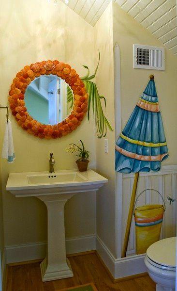 Wall Decal In Beach Bathroom Theme Beach Themed Bathroom Decor Ideas And  Inspiration