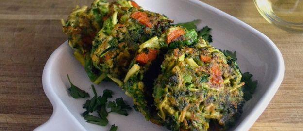 Groentekoekjes van broccoli, wortel en courgette