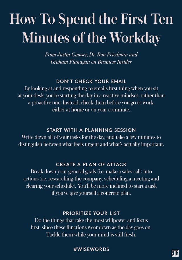 The post How To Spend the First Ten Minutes of the Workday appeared first on Ivanka Trump.