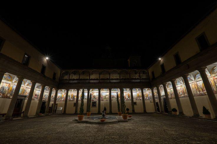 Sub Regula Augustini: Light and Art in the cloister of Santissima Trinità Church of Viterbo.   #DGA #LightAddicted #LED #producer #madeinitaly