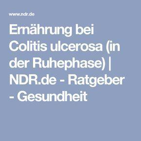 Ernährung bei Colitis ulcerosa (in der Ruhephase) | NDR.de - Ratgeber - Gesundheit