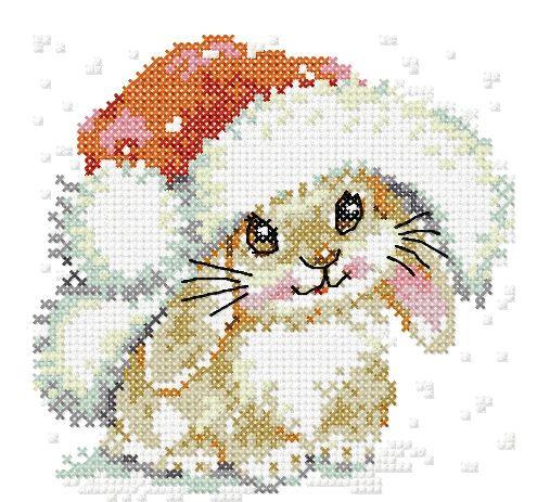 Christmas bunny cross stitch free embroidery design - Cross stitch machine embrodiery - Machine embroidery forum