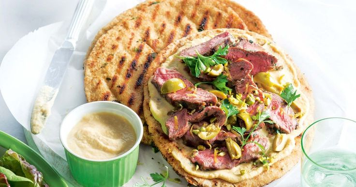 Try this zesty lamb and lemony hummus flatbread recipe that is ready in under 30 minutes.