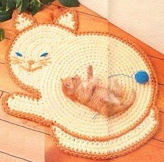 Tapete gato croche