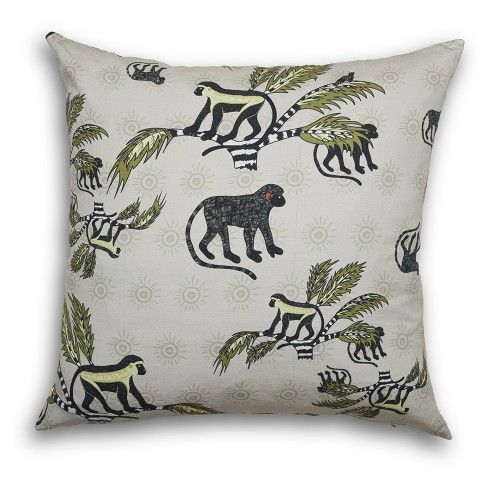 Charming jungle print adds playfulness and a touch of the exotic to your seated areas. This Ardmore pillow is handmade in South Africa.