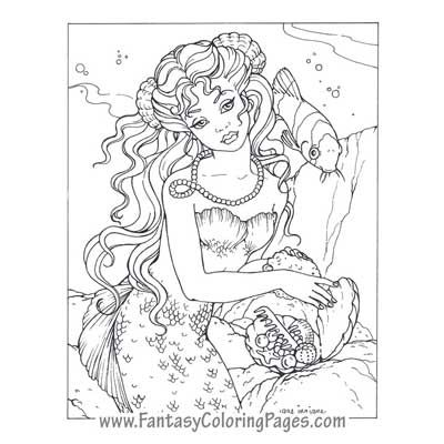 fantasy coloring pages worlds best coloring pages mermaids angels fairies and so - Coloring Pages Beautiful Angels