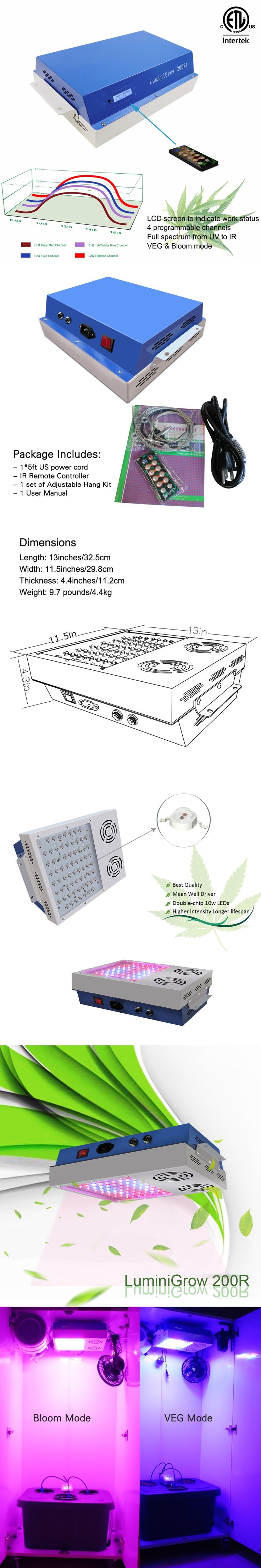 640W Full Spectrum Grow Light Led Greenhouse Horticulture Indoor Dimmable Diy Plant Lamp Veg And Flower For Hydroponic System