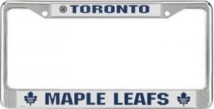 Toronto Maple Leafs Chrome License Frame