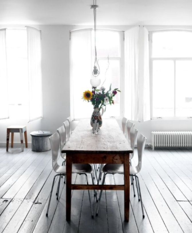 """This spacious dining area is from our feature """"Urban Cool"""""""