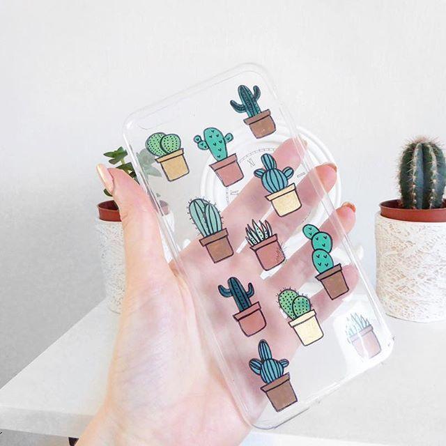 When you cute but prickly  #phonecase #handmade #cactusphonecase #succulents
