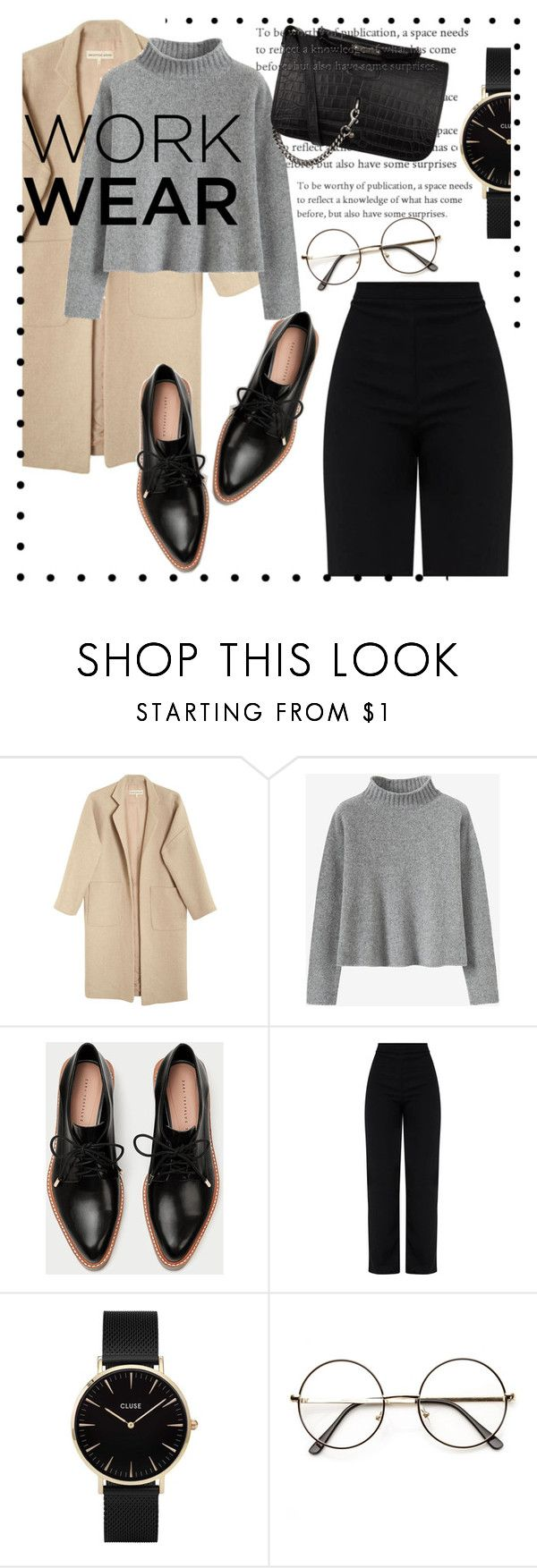 """""""work"""" by mermaind-jane ❤ liked on Polyvore featuring Mara Hoffman, CLUSE, Yves Saint Laurent, WorkWear and 60secondstyle"""
