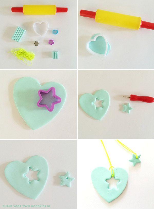 Een moeder en kind ketting maken. Zo zoet! http://www.moodkids.nl/valentijn #valentinesday #diy