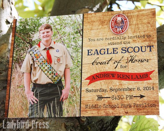 Printable Eagle Scout Court of Honor Invitation by LadybirdPress