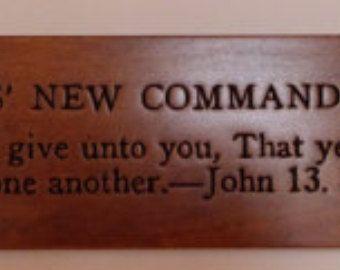 Jesus' New Commandment carving on Maple wood. - Edit Listing - Etsy