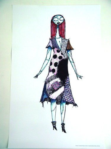 Nightmare Before Christmas Disney Lithograph of Sally 23 x 36 inches @ niftywarehouse.com #NiftyWarehouse #Disney #DisneyMovies #Animated #Film #DisneyFilms #DisneyCartoons #Kids #Cartoons