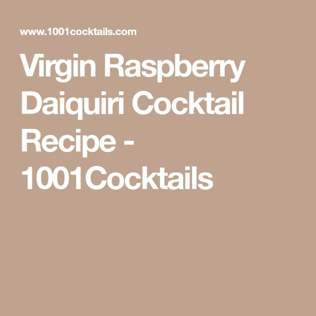Virgin Raspberry Daiquiri Cocktail Recipe - 1001Cocktails