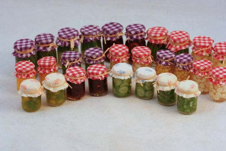 how to make dollhouse canned pickles - Google Search