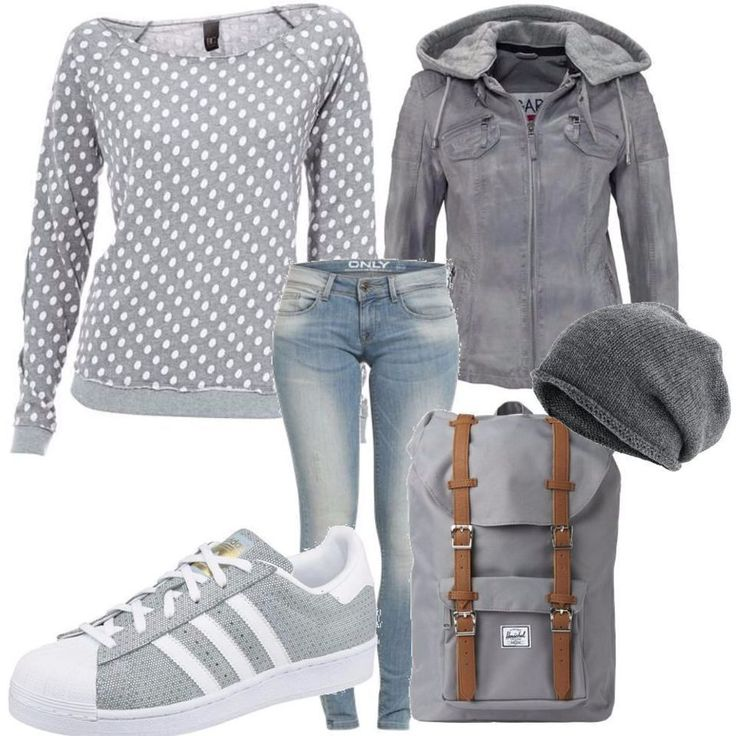 Dieses Outfit ist sportlich, casual und lässig. Only Jeans, B.C. Best Connections Shirt und eine saucoole KangaROOS Lederjacke werden kombiniert mit ADIDAS ORIGINALS Sneaker. – Stylaholic – Outfits & Styles