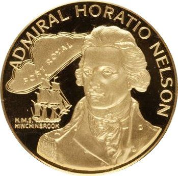 Монета: 100 Dollars (Admiral Horatio Nelson) (Ямайка) (1969 ~ сегодня - доллар - нумизматическая продукция) WCC:km72