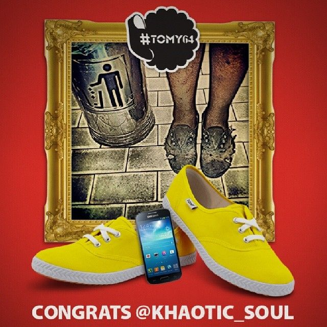 Congratulations to @khaotic_soul who had won the #tomy64 competition. You have won free #TomyTakkies for a year, a Samsung Galaxy S4 Mini an...