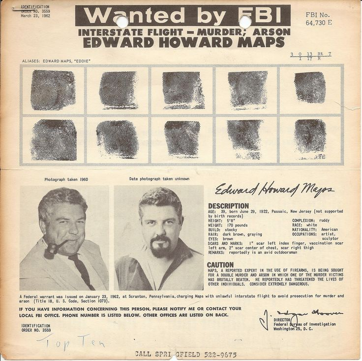 PA - EDWARD MAPS: Missing from Stroudsburg, PA - 21 June 1962 - Age