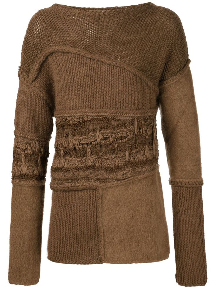 Isabel Benenato Knitted Deconstructed Sweater