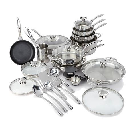 Shop Wolfgang Puck 27-piece Stainless Steel Cookware Set 8370424, read customer reviews and more at HSN.com.