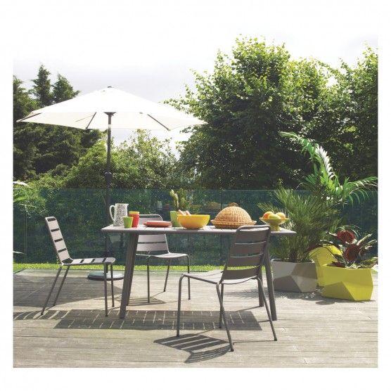 DARWIN Grey stackable metal garden chair   Buy now at Habitat UK