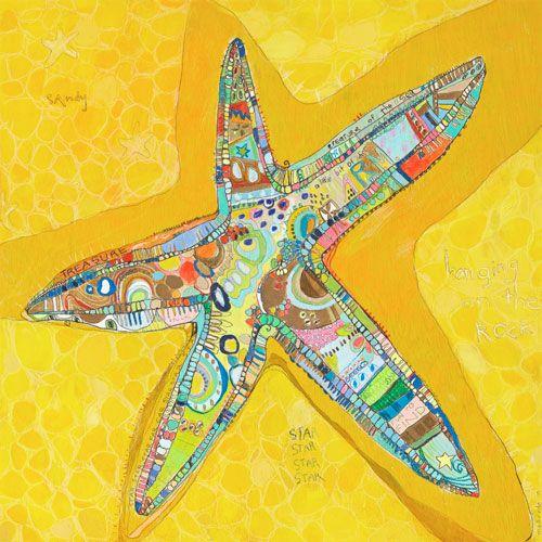 Starstuck by Oopsy daisy www.sweetretreatkids.com #sweetretreatkids #beachart #beachprint #oceanart #oceanprint #starfishprint #kidswallart #wallart #starprint