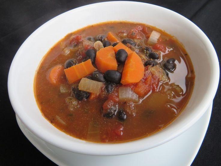 Snelle mexicaanse bonensoep - Vegetus; veganistisch budgetvriendelijk snel