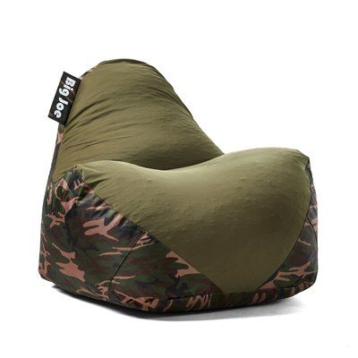 Big Joe Warp Bean Bag Chair Upholstery Camo Green