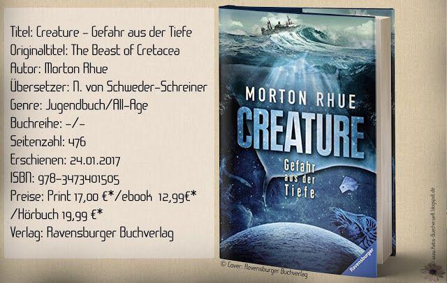 """""""Creature – Gefahr aus der Tiefe"""" von Morton Rhue ist ein spannungsgeladener All-Age Roman mit einer interessanten und allgegenwärtigen Botschaft. ~ düster & spannend ~ facettenreich ~ pures Kopfkinoerlebnis!"""