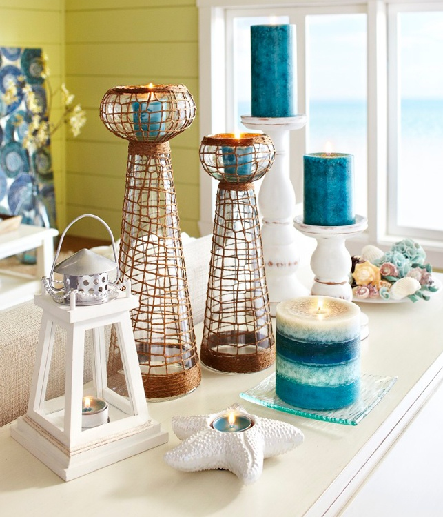 Decorating With Candles In Coastal Blues Candles Coastal