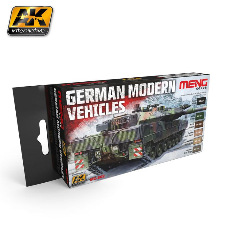 MC802 - German modern vehicles color set