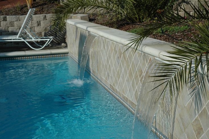 107 best images about pool idea 39 s some day on - Swimming pool water feature ideas ...