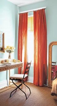 Orange Curtains via vmacandcheese.com