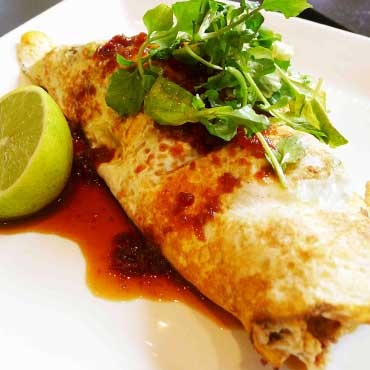 Cafe Ish - soft shell crab omelette! Mmmm