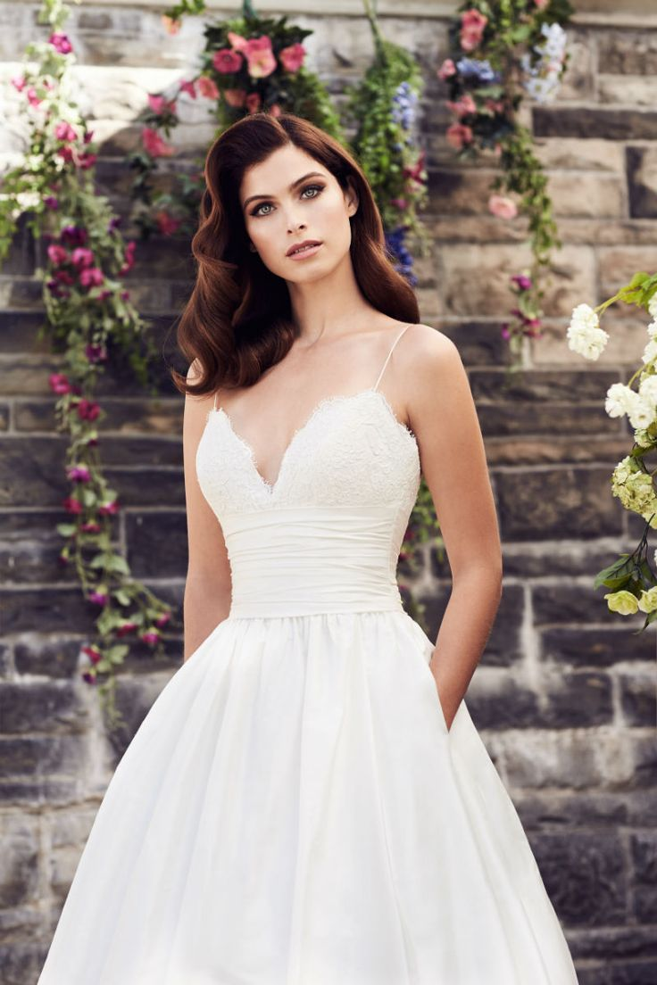 Spaghetti Strap A-Line Wedding Dress by Paloma BlancaTHIS IS MY DRESS!!