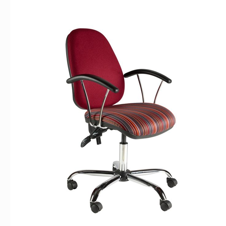 Classic Office Chair With High Back Chrome Base