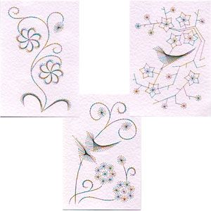 Las chorradikas de Laury: Flores chinas para bordar