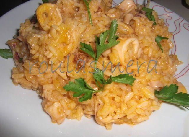 ριζότο με καλαμαράκια