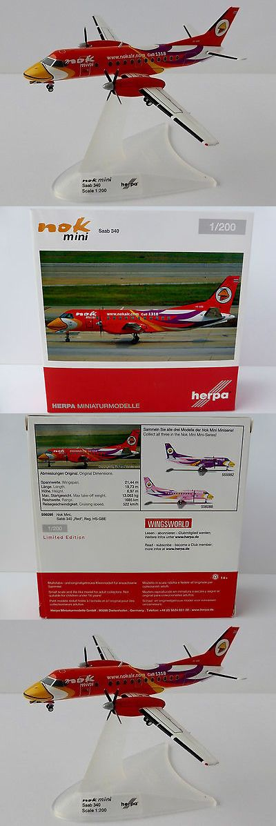 Tether Cars 168247: Saab 340 Nok Mini Red Hs-Gbe 1 200 Herpa 556095 Sf340 Fairchild 340B Sga Orange -> BUY IT NOW ONLY: $57.58 on eBay!