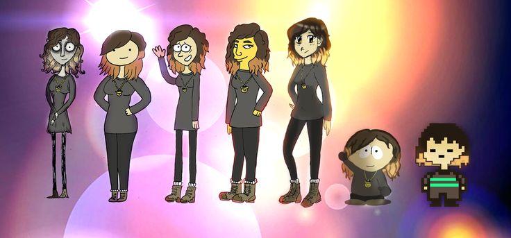 Cartoon styles of myself by Ccjay25.deviantart.com on @DeviantArt