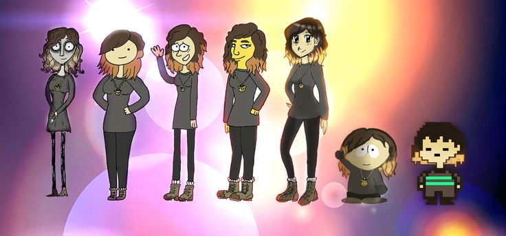 Cartoon styles of myself by Ccjay25.deviantart.com on @DeviantArt