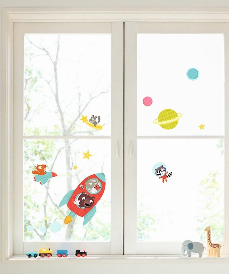 Rocket Window Cling Set. Nouvelles Images on zulily.